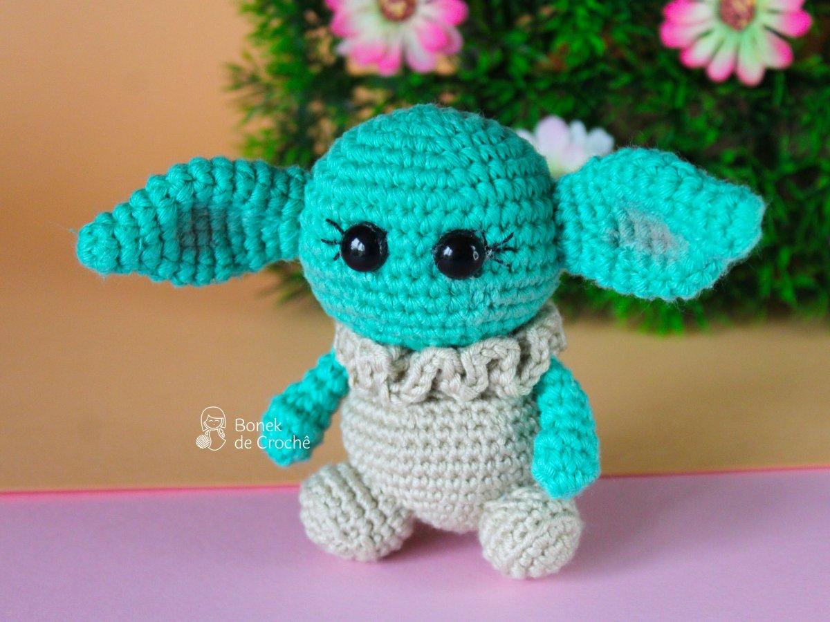 Doll inspired on Baby Yoda amigurumi