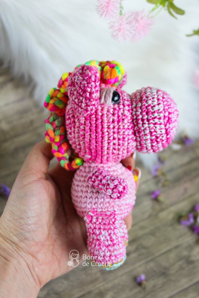 Rainbow the Hippo is a cute stuffed doll that is looking for its new best friend. Rainbow has a few of stories to tell of your adventure in Africa, where he lived! He is a unique, beautiful and smart, hand knit Hippo soft colorful yarn, filled with non-allergenic of holofiber