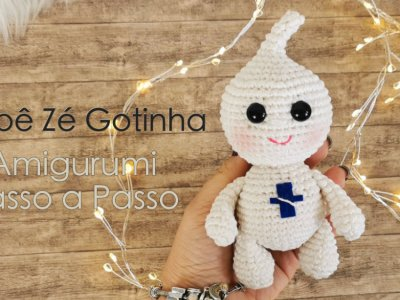 Boneco Zé Gotinha Amigurumi